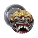 Máscara hindú de Bali Pin Redondo 5 Cm