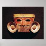 Máscara humana, de Teotihuacan Póster