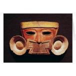 Máscara humana, de Teotihuacan Tarjeta De Felicitación