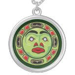 Máscara india de la luna del nativo americano del  joyerias personalizadas