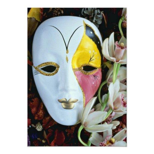 """Máscara Invitación 5"""" X 7"""""""