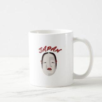 Máscara japonesa taza