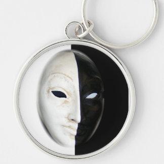 Máscara Llavero Redondo Plateado