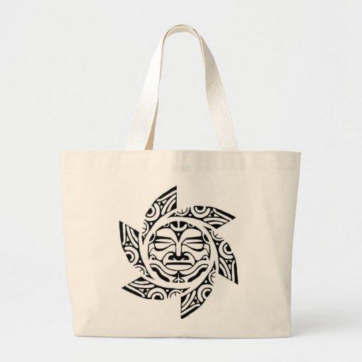 Máscara maorí bolsa tela grande