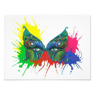 Máscara - mariposa fotografía