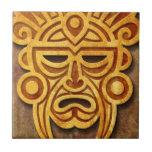 Máscara maya de piedra azulejos