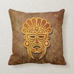 Máscara maya de piedra cojin
