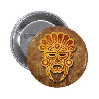 Máscara maya de piedra pins