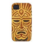 Máscara maya de piedra, por completo vibe iPhone 4 carcasa