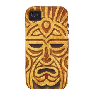 Máscara maya de piedra por completo vibe iPhone 4 carcasa
