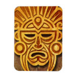 Máscara maya de piedra, por completo iman de vinilo