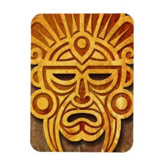 Máscara maya de piedra, por completo imanes