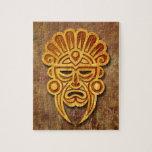 Máscara maya de piedra puzzles con fotos