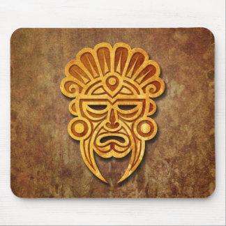 Máscara maya de piedra tapete de raton