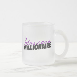 Mascara Millionaire Frosted Glass Coffee Mug