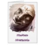 Máscara Mortuoria Greeting Card
