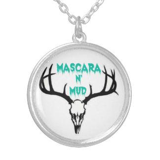 Mascara N' Mud Necklace Round Pendant Necklace