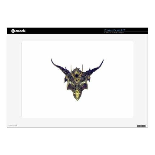 Máscara negra del dragón por Cantillon - Sharles Portátil 38,1cm Skins