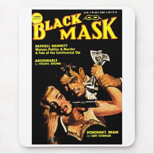 """""""Máscara negra"""" Mousepad Alfombrillas De Raton"""