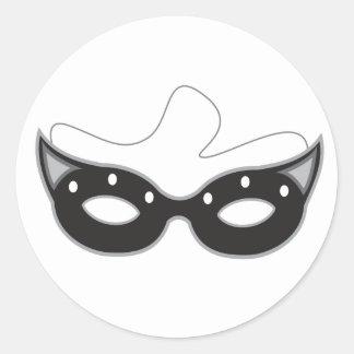 Máscara Pegatina Redonda