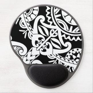 Máscara polinesia tribal negra pesada intrépida de alfombrilla de raton con gel