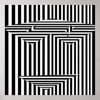 Máscara psicodélica de ilusiones póster