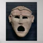 Máscara púnica del encanto, 3ro-2do siglo A.C. Póster