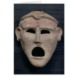 Máscara púnica del encanto, 3ro-2do siglo A.C. Tarjeta De Felicitación