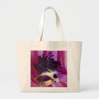 Máscara púrpura de la mascarada bolsa lienzo