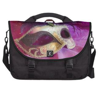 Máscara púrpura de la mascarada bolsas para portátil