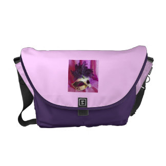 Máscara púrpura de la mascarada bolsas de mensajeria