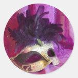 Máscara púrpura de la mascarada pegatinas