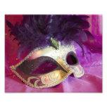 Máscara púrpura de la mascarada impresiones fotográficas