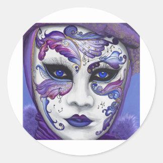 Máscara púrpura del carnaval por PSOVART Etiqueta