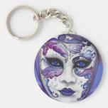 Máscara púrpura del carnaval por PSOVART Llaveros Personalizados