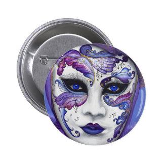 Máscara púrpura del carnaval por PSOVART Pin