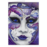 Máscara púrpura del carnaval por PSOVART Felicitación