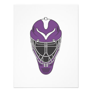 Máscara púrpura del hockey anuncio personalizado