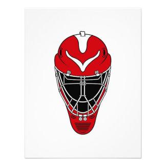 Máscara roja del hockey invitacion personalizada