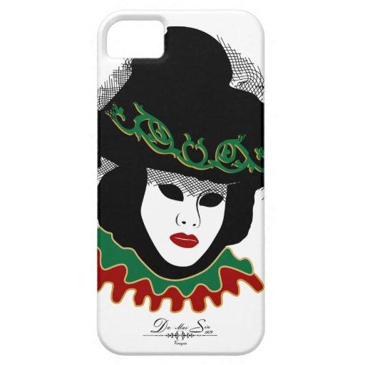 máscara roja verde funda para iPhone 5 barely there