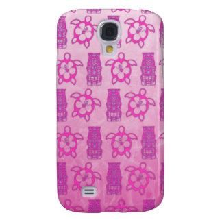 Máscara rosada de Honu y de Tiki Funda Para Galaxy S4
