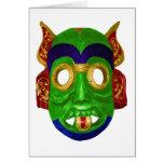 Máscara tailandesa colorida tradicional tarjetas