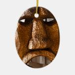 Máscara tallada mano africana ornamento para arbol de navidad