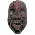 Máscara tallada maorí escultura fotográfica
