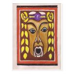 Máscara tribal postal
