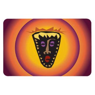 Máscara tribal Sun que brilla intensamente de la c Imán De Vinilo
