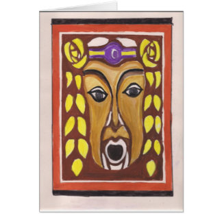 Máscara tribal tarjeta de felicitación