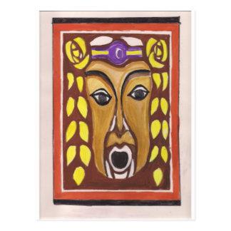 Máscara tribal tarjetas postales