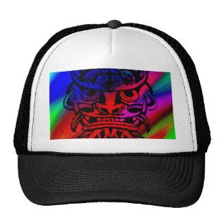 Máscara tribal viciosa, arco iris negro 003 gorros bordados