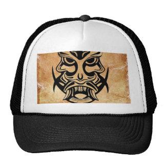 Máscara tribal viciosa, grunge negro 002 gorra